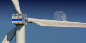 Large wind farm turbine