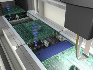 ultrasonic sensor - U300 detecting PCBs